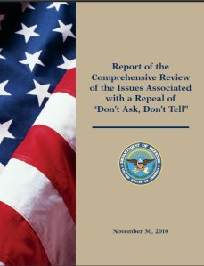 """Report of the Comprehensive Review of the Issues Associated with a Repeal of """"Don't Ask Don't Tell"""""""