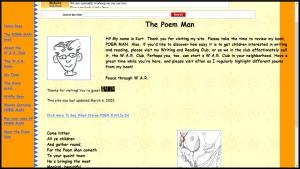 Poem Man Website