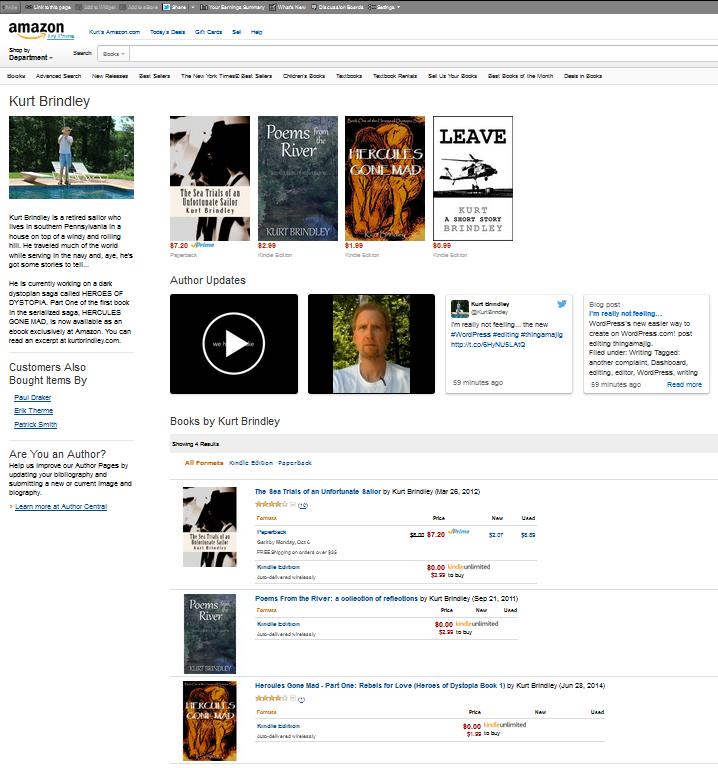 Amazon's New Author Profile Page