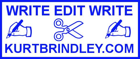 WRITE EDIT WRITE BLUE FAN LOGO