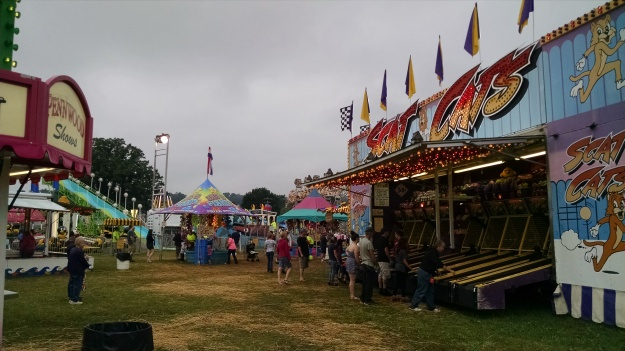 Reporting live from the New Freedom Carnival in New Freedom, Pennsylvania