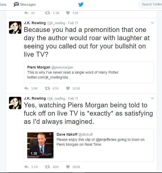 J. K. Rowling Dominates Twitter